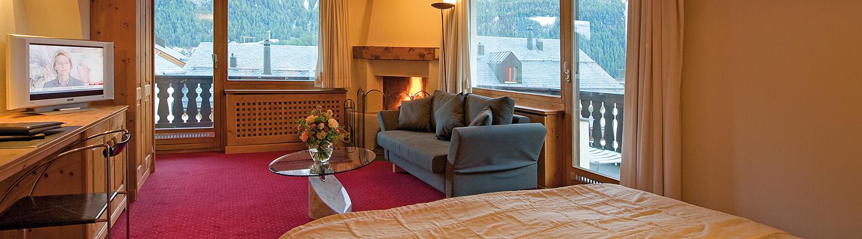 junior suite mit kamin hotel albana hotel lodge thai engadine cuisine silvaplana. Black Bedroom Furniture Sets. Home Design Ideas
